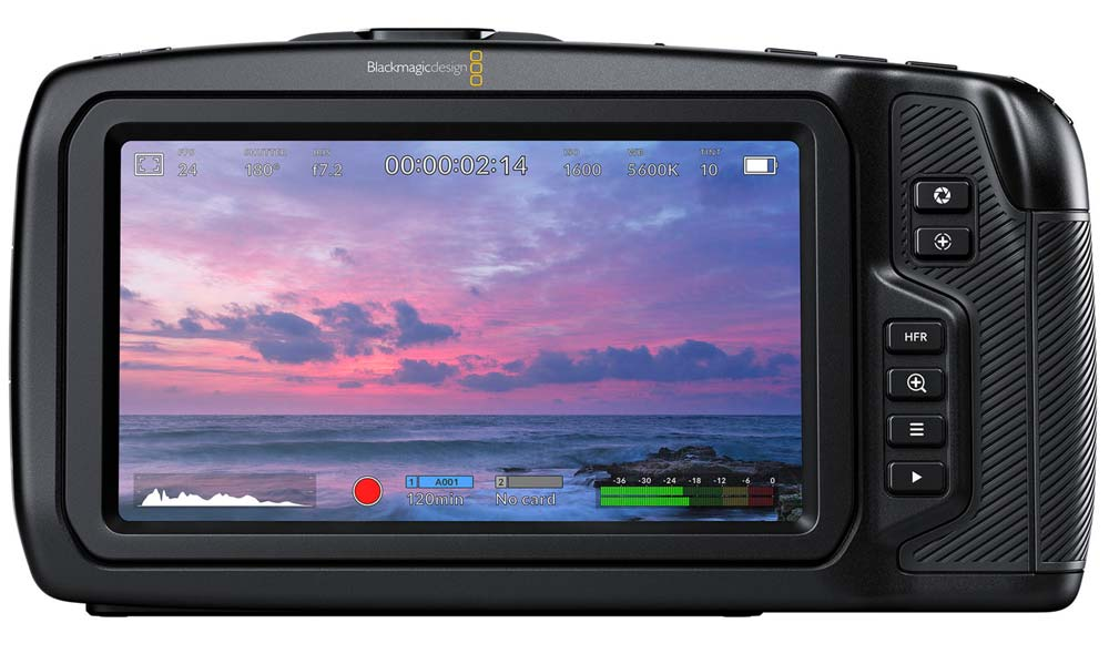 "pantalla táctil de 5"" LCD Blackmagic Pocket Cinema Camera 4K camaras.video"