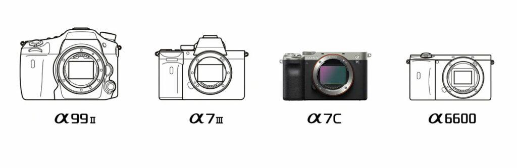 comparativa cámaras alpha Sony A7C