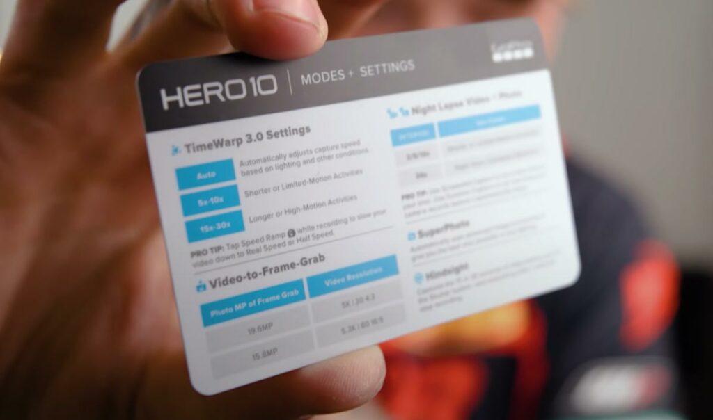 tarjeta Hero 10 GoPro con settings recomendados camaras.video