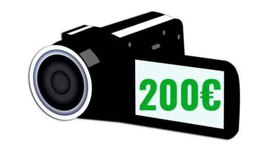 cámaras de vídeo baratas 200 euros camaras.video