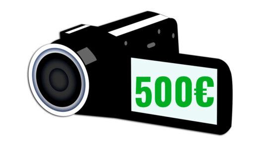 cámaras de vídeo baratas 500 euros camaras.video