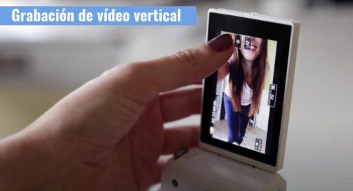 grabación de vídeo vertical canon m50 mark II camaras.video